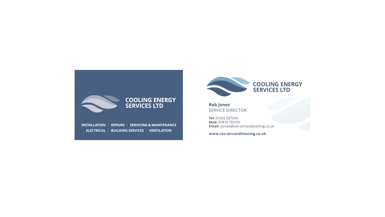 Cooling Energy Services Business Card designs