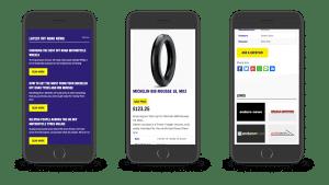 Enduro Tyres responsive design mobile
