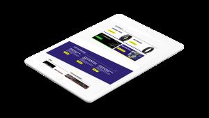 Enduro Tyres website tablet responsive