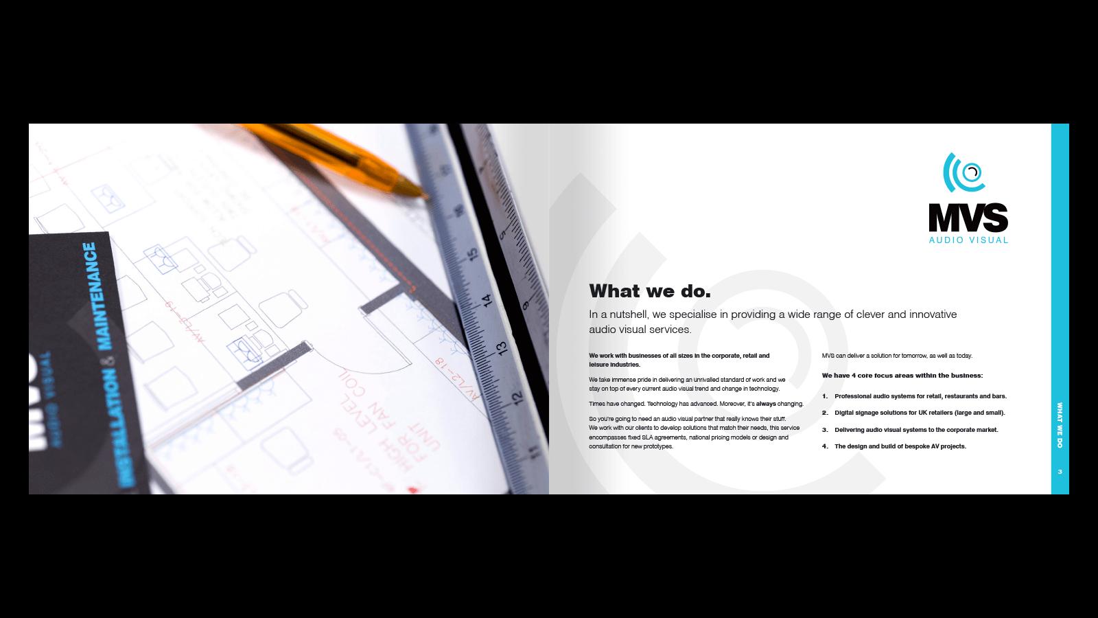 MVS brochure design