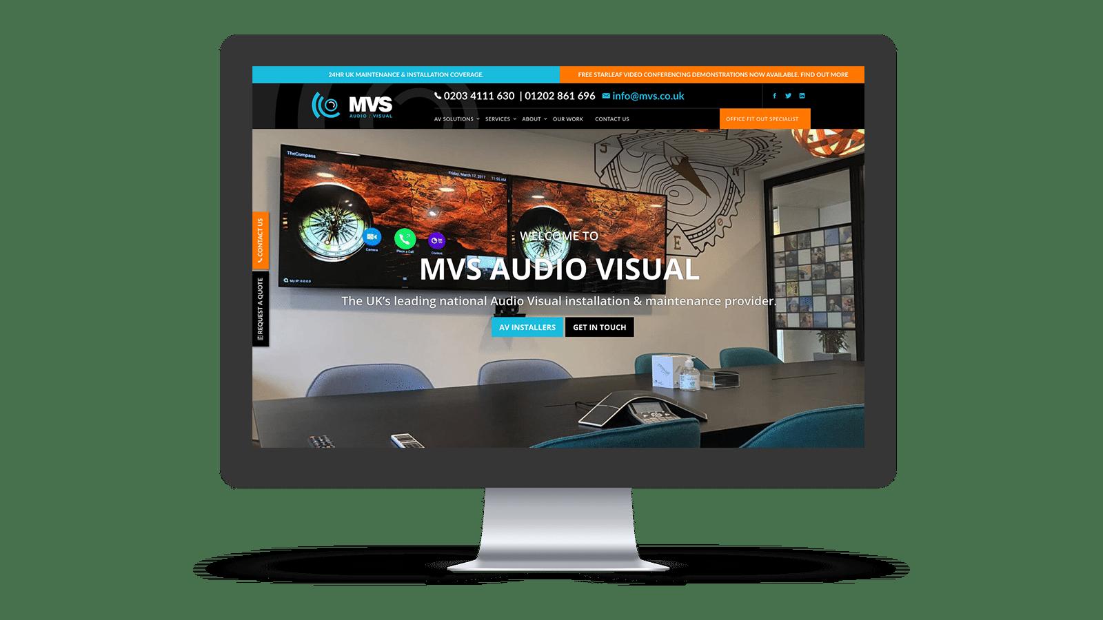 MVS home page design