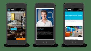 MVS Audio visual website mobile responsive