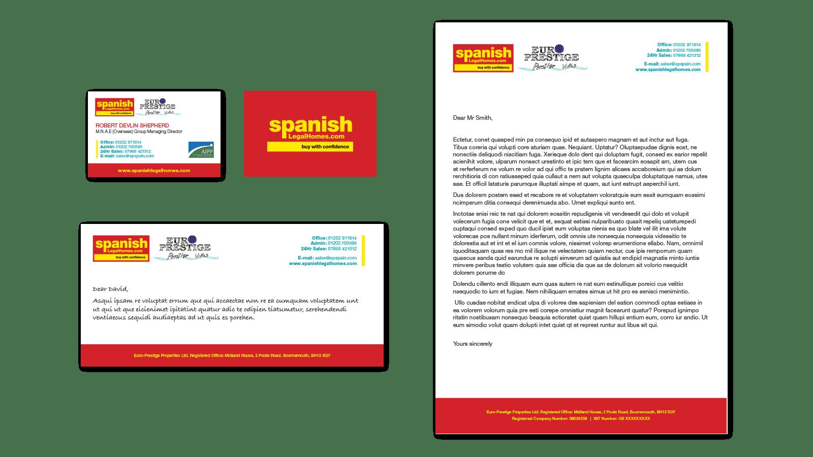 Spanish Legal Homes stationary