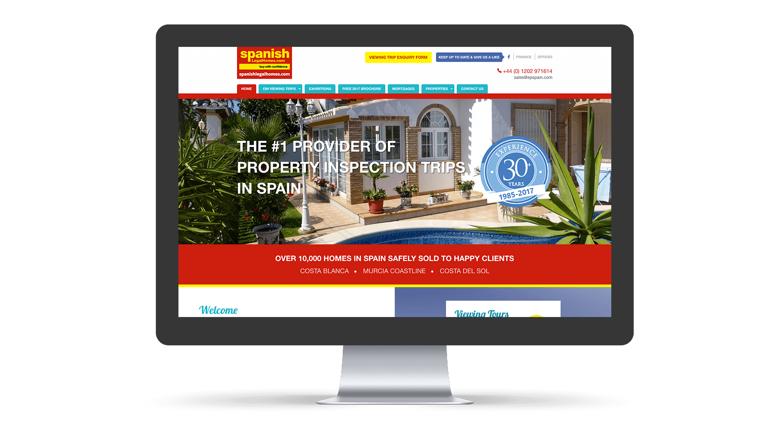 Spanish Legal Home website home page