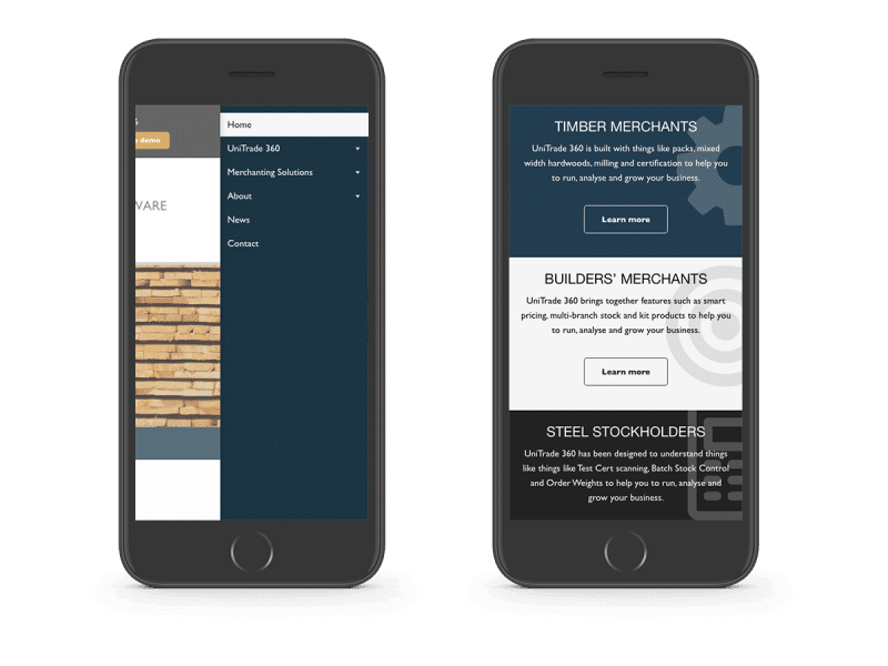 Ten-25 responsive design mobile