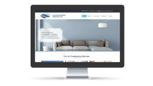 Cooling Energy Services home page design