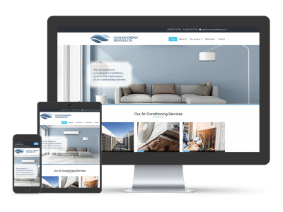 Cooling Energy Services website responsive versions
