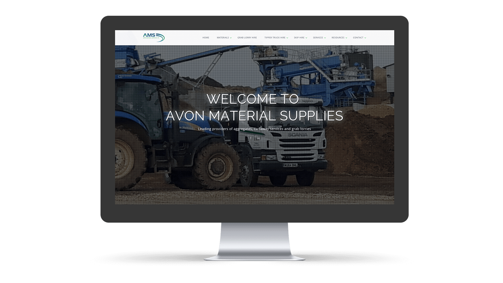 Avon Material Supplies homepage design