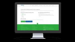 Avon Material Supplies Service page design