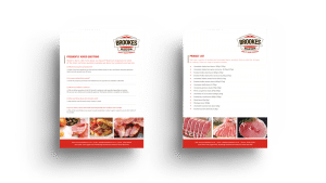 Brookes bacon graphic design product brochure