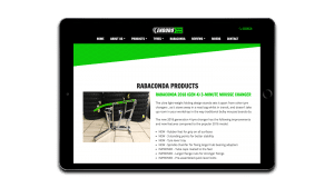 Enduro Tyres Rabaconda page design tablet