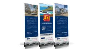 Humphries Kirk graphic design pull up banners