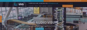 MVS audio visual website banner