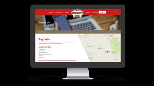 Brookes Bacon website contact page desktop