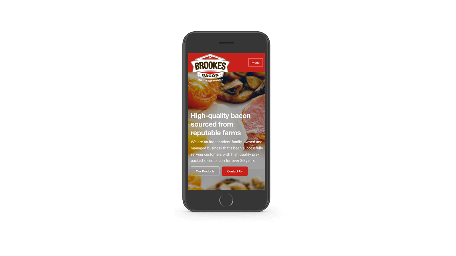 Brookes Bacon mobile responsive