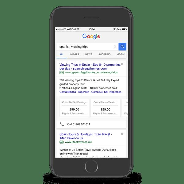 Google Adwords Spanish Legal Homes